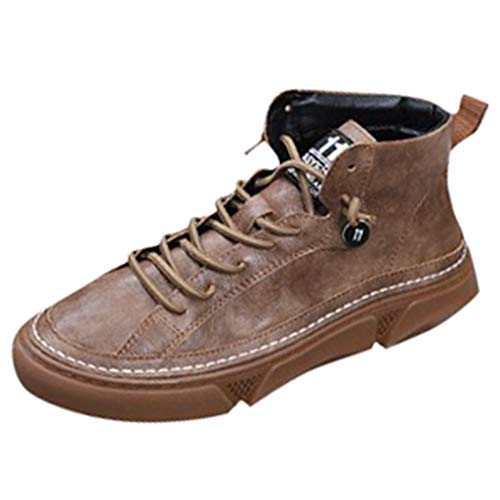 Affordable Hot Sale! Men's Sneakers Vintage High-Top Casual Boots Fashion Wild Thick-Soled Sport Sho...