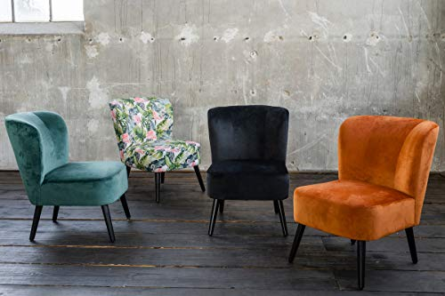 KAWOLA Sessel Mingo Bezug Velvet orange