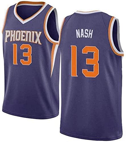 XUECHEN Ropa Jersey de Baloncesto de la NBA, Phoenix Suns # 13 Steve Nash Baloncesto Uniforme, Uniforme de Entrenamiento de Secado rápido, Transpirable y Sudor para Hombre, púrpura, XL (180~185 cm)