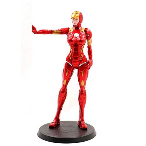 Avengers Character Model Iron Maiden Femme Iron Man Little Chili Modèle Poupée Modèle Cadeaux Modèle Cadeaux de vacances Cadeaux Collections Collections Souvenirs (20CM) Rouge (Color : A)