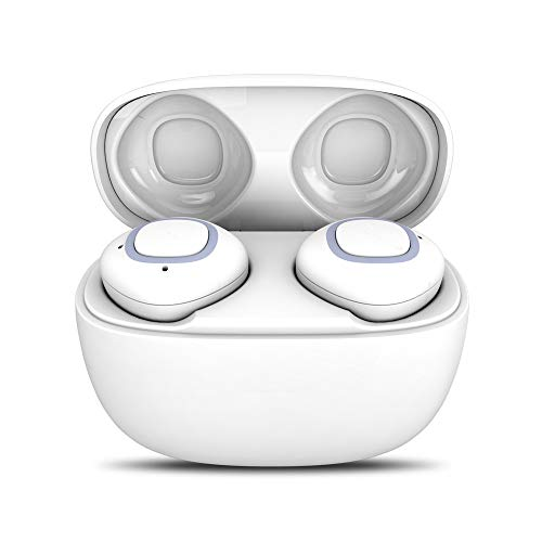 OPAKY - Mini Auriculares inalámbricos con Bluetooth para iPhone, iPad, Samsung, Huawei, Tablet, etc. Blanco