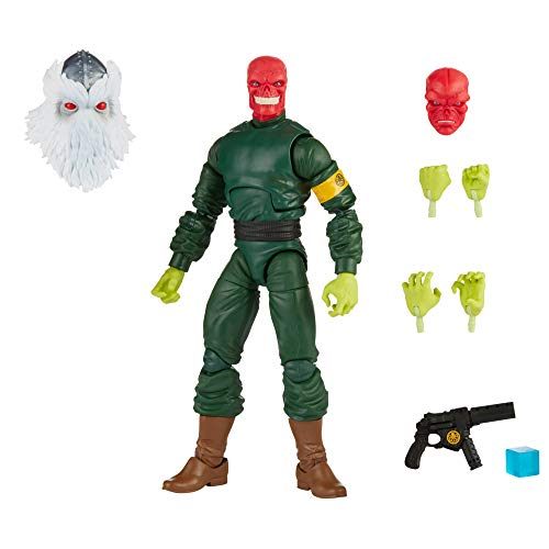 Marvel Hasbro Legends Series 6-inch Collectible Action Red Skull Figure and 7 Accessories and 1 Build-a-Figure Part, Premium Design