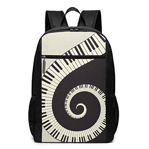 Piano Keyboard Wallpaper Backpack Suitable for School and Outdoor 17 Inch