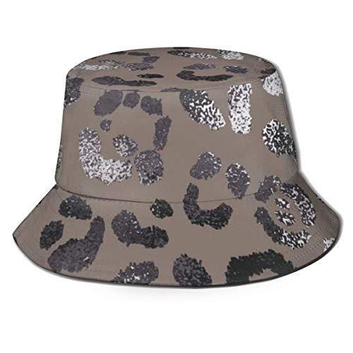 Gorras Piel de Leopardo Elegante Sombrero de Pescador Moda Unisex Sombrero de Pescador Gorra de Pescador Verano Pesca al Aire Libre Camping