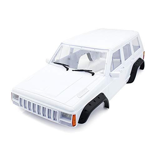 INJORA RC Auto Karosserie 313mm Radstand Cherokee Body Car Shell für 1/10 RC Crawler Axial SCX10 SCX10 II 90046 90047 Traxxas TRX4 Kit (Weiß)
