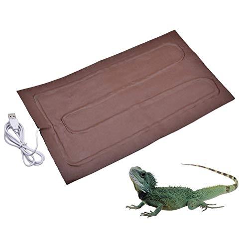 BSTQC Almohadilla cálida de 8,5 W para calentar reptiles con USB, almohadilla térmica para anfibios, para mascotas, calefacción, para acuarios