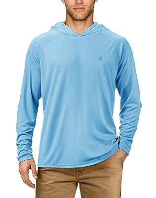 Roadbox UPF 50+ Fishing Shirts For Men Long Sleeve Sun Protection Lightweight Outdoor UV Hiking Shirts