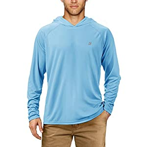 Roadbox Men's Sun Shirts UPF 50+ UV Protection Quick-Dry Hoodies Long Sleeve for Swimming, Fishing, Hiking