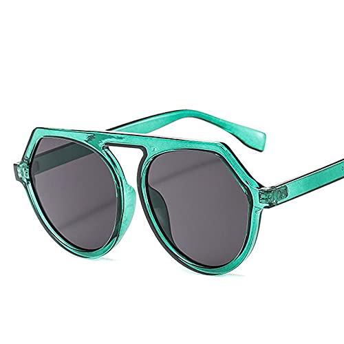 AMFG Gafas de sol de moda de una sola haz de moda Moda de gafas de sol con bisagras con bisagras de metal irregulares parabrisas (Color : C)