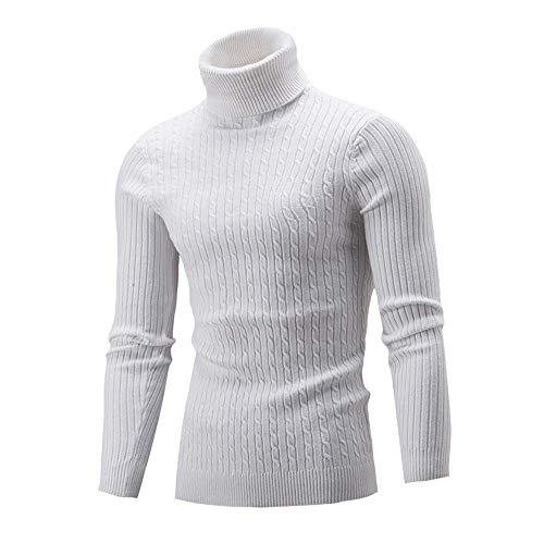 LILICAT Herren Winter Strickpullover Stehkragen Turtleneck Sweater Slim Fit Rollkragen Top Langarm Pullover Warme Strickpullover Herren Slim...