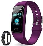 GetPlus Pulsera Inteligente Smartwatch Mujer y Hombre - Reloj Deportivo Monitor Actividad Fisica, GPS y Ritmo Cardiaco - Bluetooth Fitness Tracker Waterproof USB
