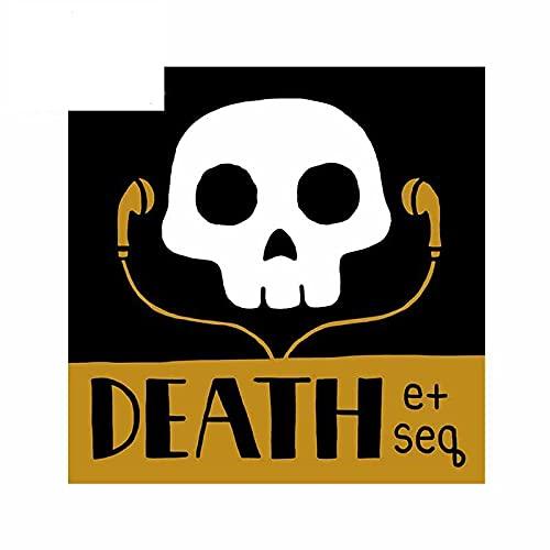 A/X 13cm x 13cm para Death Skull Music a Prueba de Agua Pegatinas de Coche de Dibujos Animados Personalidad Tabla de Surf RV Motocicleta