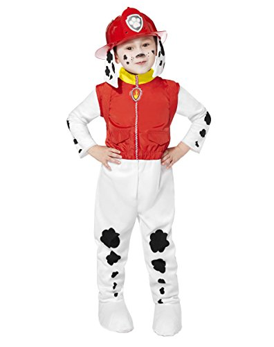 Spirit Halloween Toddler PAW Patrol Marshall Costume | Officially Licensed Red