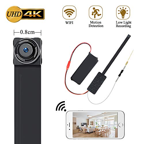 Micro Telecamera LXMIMI 1080P Microcamera Spia Nascosta Wifi Portatile Batteria Camera Spia Pulsante Fotocamera con Motion Detection