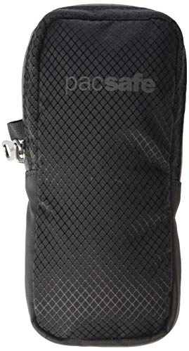 PacSafe Attachable RFID Blocking Backpack Strap Pouch, Black, One Size
