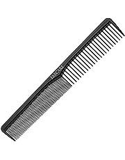 Carbon kam antistatisch voor haar en baard (18 cm) - onbreekbare haarkam van zeer sterke koolstofkunststof - tondeuse kam en baardkam voor kappers