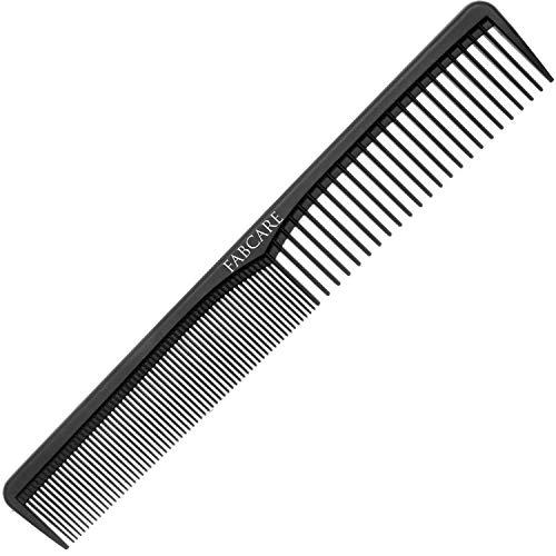 Peines de Peluqueria el Fibra de Carbono (18 Cm) - Antiestático y Resistente a la Rotura - Peine Antienredos - Peine Hombre - Peine Desenredante - Peine Pelo Rizado - Cepillo Pelo Antitirones