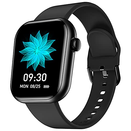 CUBOT Smartwatch, C5 Fitnessuhr Damen Herren, Armbanduhr mit IP68 Wasserdicht Sportuhr Smart Watch Blutdruckmessung Uhr, Fitness Tracker Schrittzähler, Pulsuhr, Schlafmonitor, Stoppuhr Schwarz