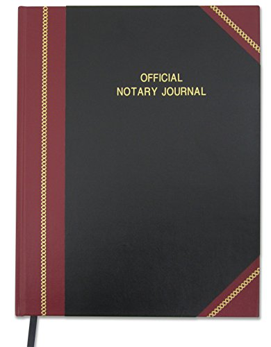 "BookFactory Official Notary Journal/Log Book 168 Pages 8.5"" X 11"" 668 Entries 49 of 50 State Journal of Notarial Acts, Black and Burgundy Cover, Hardbound, (LOG-168-7CS-LKMST71(Notary))"