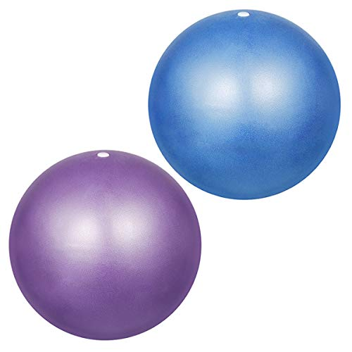 YMWALK Pelota de Pilates, 2 Piezas de 25 cm Pelota de Ejercicio pequeña, Mini Pelota de Pilates Blanda Antideslizante Anti Burst Gym Fitness Ball Pilates, Yoga, Core Training