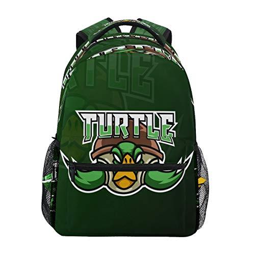 Tortuga Verde Ninja Mochila Escolar Impermeable Mochilas Escolares para Estudiante Adolescentes Niñas Niños