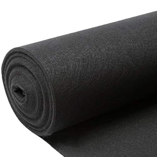 ANHPI-Runner rugs Alfombra Boda Moqueta Rollo Negro Alfombras Poliéster Antideslizante Durable Exposición...
