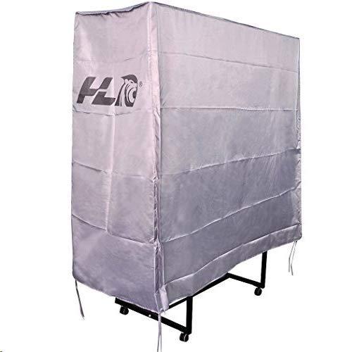 hlc® Cubierta Protectora PVC para Mesa de Ping Pong(160x80x150 cm),Color Plateado