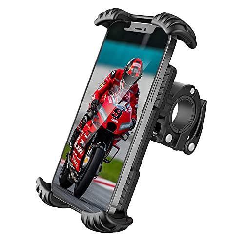 Docksmann Support de téléphone pour Moto Vélo Trottinette et Scooter Protection Silicone Antichocs et Anti-Vibrations Rotation 360° pour Smartphones IPhone Samsung Xiaomi Entre 4.7 et 7 Pouces