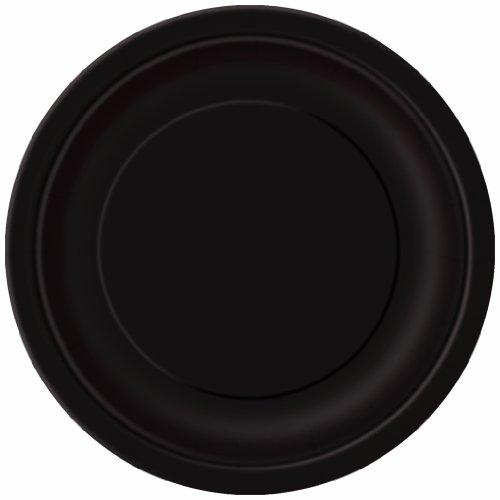Unique Industries, Cake Paper Plates, 20 Pieces - Black
