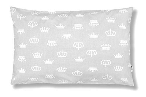 Amilian® Dekokissen Kissenbezug Kissen 40cm x 60cm Krone Grau