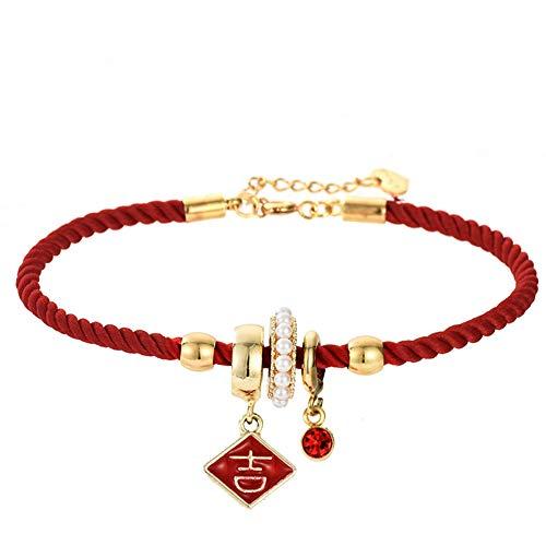 vwlvrsco Bracelet Bangle Jewelry Gift,Bracelet for Women,Men Women Chinese Charm,Bracelet String Beads,Bracelet Chain Pack 2#