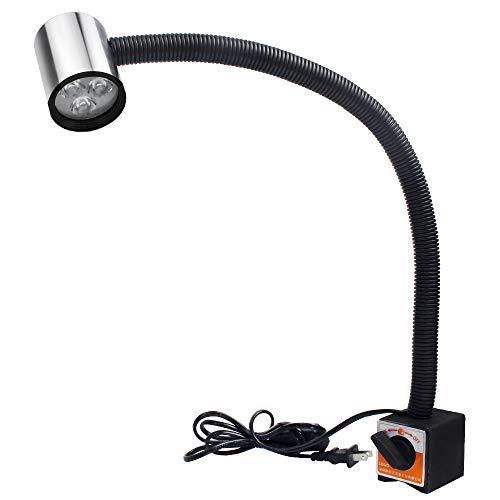 Led Magnetic Machine Work Light IP65 Water Proof Flexible Gooseneck lamp 900 Lumens 120 Volt for Lathe Milling Drill Press Industrial Lighting