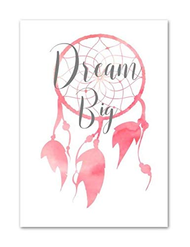 xuyuandass Carteles E Impresiones Nórdicos Ballet Girl Flamingo Flor Corona Tienda De Campaña Vivero Arte De La Pared Lienzo Pintura Decoración del Hogar Sin Marco 50x70Cm Dl132