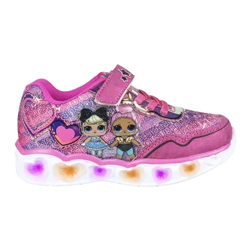 CERDÁ LIFE'S LITTLE MOMENTS Jungen Surprise Licht | LOL LED Schuhe Mädchen Offizieller Lizenz, Pink, 34 EU