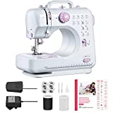 Máquina de coser con 12 tipos de puntadas que incluyen puntadas inversas y ojales