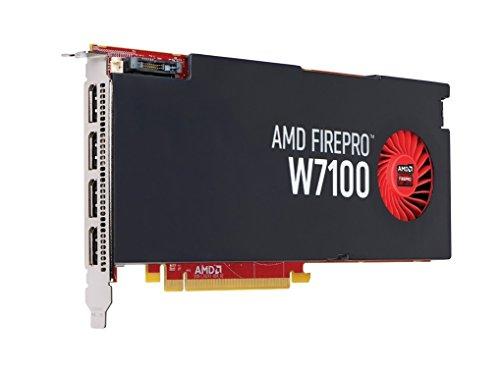 Dell AMD ATI FirePro W7100 Professional Grafikkarte, 8 GB, GDDR5 Speicher, 4 x DisplayPort-Ausgänge für Quad-Monitor, Dell P/N: KVMR4