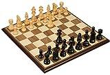 ZXCVB Internacional de Ajedrez, Grande ébano Plegable Exquisito Juego de ajedrez, Hogar Los niños / Adultos de ajedrez de Brown Formación Competencia ( Color : Black , Size : Large )