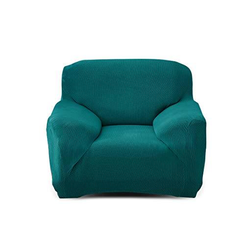 Fashion·LIFE 1 Posti Fodera Copridivano Elasticizzato per divani Stretch copridivano Elastico in Poliestere e Spandex Protezione Facile Antiscivolo per divani,Verde Giada