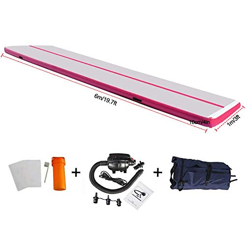 EZ GLAM 10ft/13ft/16ft/20ft Air Mat Tumble Track Inflatable Gymnastics Tumbling Track Mat with...