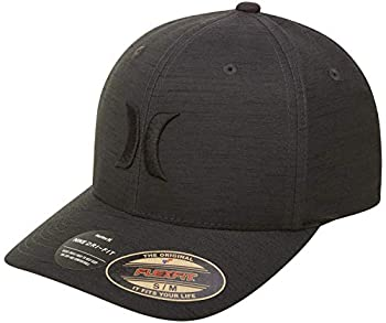 Hurley Men s Dri-fit Cutback Curved Bill Baseball Hat Size Large-X-Large Black Heather
