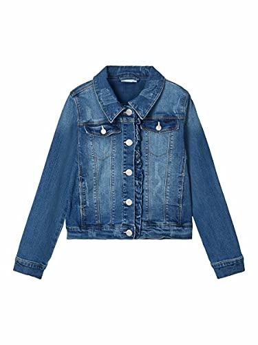 Name It NKFTEGANI DNM 2278 Jacket Noos Giacchetto, Denim Blu Medio, 152 Bambina