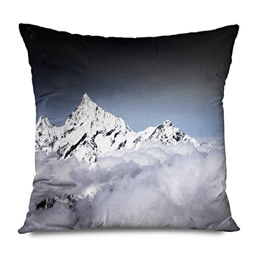 jingqi Sport Peak Matterhorn in den umliegenden Mountians Alpen Wetter Trekking Wanderung Natur Zermatt Parks Outdoor Kopfkissenbezug,Kissenbezüge,Versteckte Zipper Kissenschale