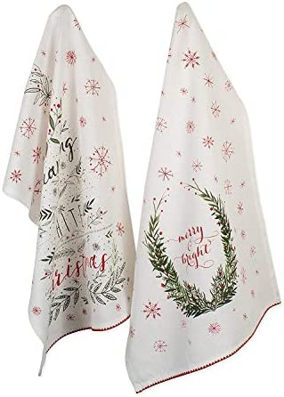 DII Christmas Kitchen Collection Printed Dishtowel Set 18x28 Set of 2 Noel 2 Piece product image