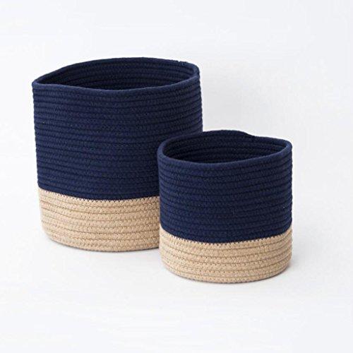 Sacs de rangement Xuan - Worth Another Fil de Coton Lutte Couleur vêtements Sales Panier Panier de Rangement Jouet boîte rotin Tissage (Taille : Gros)