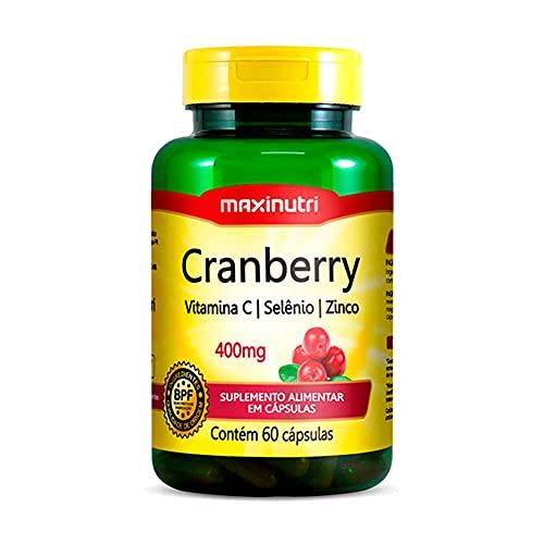 Cranberry + Vit. C, Selênio e Zinco Anti-OX 400mg - 60 Cáps, Maxinutri