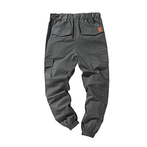 Pantaloni da Lavoro da Uomo di Moda Pantaloni da Jogging Pantaloni da Jogging Casual Pantaloni Cargo da Allenamento Pantaloni Sportivi da Atletica Multi Tasche (Grigio Ferro, XL)