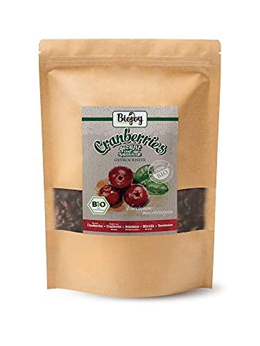 Biojoy Mirtilli rossi secchi Biologichi, senza zucchero, dolcificati succo di mela (1 kg)