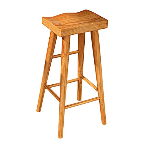 Moderne eenvoud Barkruk Teak massief hout bar stoel voor hoge kruk restaurant eetkamerstoel cafe lounge stoel