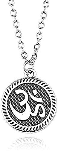 Ahuyongqing Co.,ltd Collar Collar Colgante Collar Steampunk Vintage Tiny Hindu Amuleto Budista Yoga Collar Mujeres Deporte Joyería Collares para Mujeres Hombres Regalo