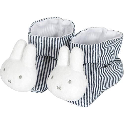 Tiamo NIJN555 Miffy Hase ABC Baby Haus-Schuhe weiß grau gestreift